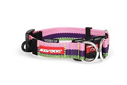 EzyDog Double Up halsband, kauwgom, medium (29cm-40cm)