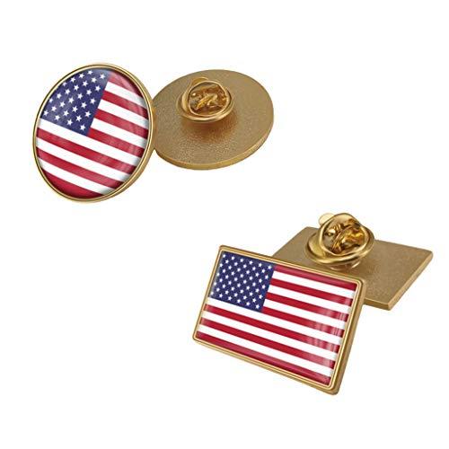 GCWA Amerikanische Flagge Abzeichen, Crystal Epoxy-Brosche, General Election Trump Fan Pin Verwendet Für Ausschnitt Hut,A