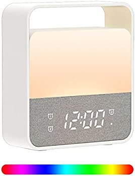 Welcam Rechargeable Color Changing Alarm Clock