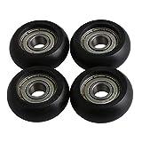 Bqlzr 8 x 32 x 12 mm plastica nera cuscinetto a sfera in acciaio cuscinetto guida tenditor...
