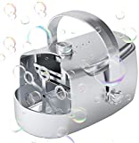 Automatic Bubble Machine, Portable Bubble Blower for Kids Outdoor, Baby Bath Toy Bubble Maker, USB Battery Powered for Garden Play, Wedding Party, Birthday, Xmas, Big Reservoir 400ML
