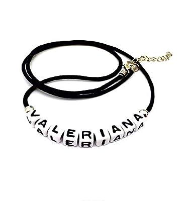 Collier fantaisie personnalisable VALERIANA (réversible) pour homme, femme, enfant avec prénom, surnom, message, texte, logo. Couleur aux choix Création sur mesure