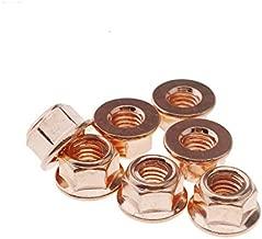 Micro Trader 12pcs Exhaust Manifold Nuts Head Stud Nut M8 Hex Copper Self Locking Car Parts