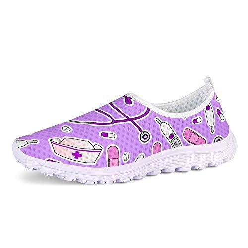 POLERO Zapatillas sin Cordones con Estampado de Enfermera para Mujer Zapatillas de...