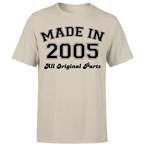 Made in 2005 All Original Parts T-Shirt 16th Birthday Mens Ideas de regalo