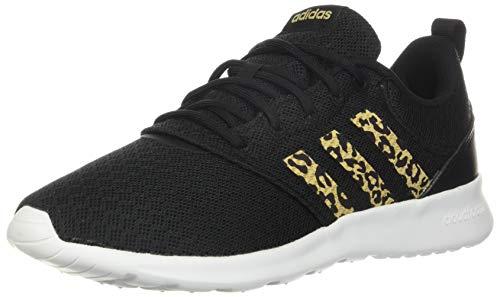 adidas,womens,QT Racer 2.0,Black/Hazy Beige/Grey,9