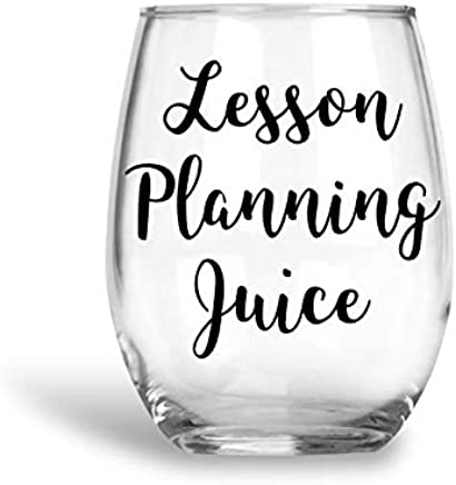Stemless Wine Glass - Lesson Planning Juice Wine Glass - Teacher Gifts