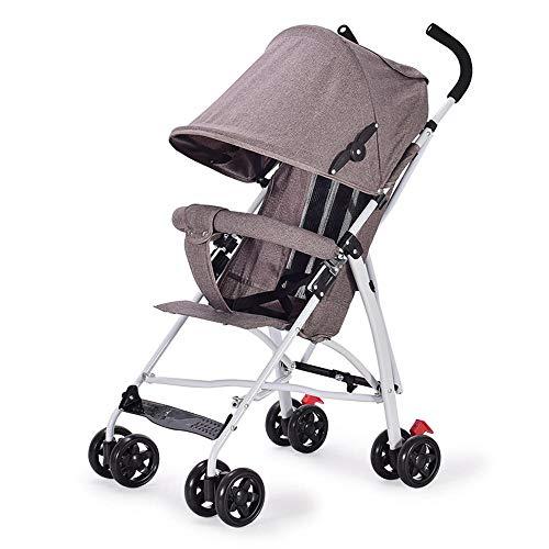 Bruin Baby Kinderwagen Ultra Licht Vouwen Baby Paraplu Eenvoudige Schokdemper BRON