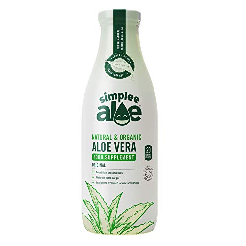 Simplee Aloe ® - The #1 Natural & Organic Cold Pressed Aloe Vera Juice 1 Litre (Plain)
