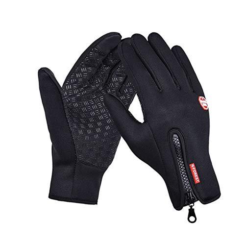 YIY Outdoor Windproof Work Hiver Cyclisme Escalade Sport Écran Tactile Imperméable et Coupe-Vent Hommes Femmes Sports Polaire Chaud Gants de Ski