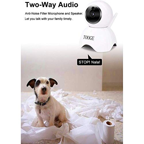 COOLAPA Pet Dog Camera Wireless Home Security Camera FHD WiFi Indoor Camera Pet Monitor Cat Camera Night Vision 2 Way Audio and Motion Detection