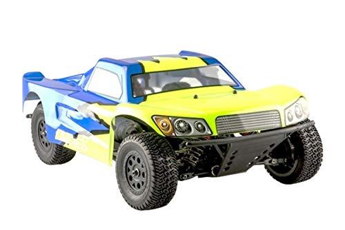 RC Auto kaufen Short Course Truck Bild: LC-Racing Mini Brushed Off-Road Short Curse Truck 1:14 RTR EMB-SCL | das perfekte Fahrzeug zum Einstieg in den RC-Car Sport | Brushed Antrieb | ca. 30 Km/h schnell | 4-Rad Antrieb | komplett Kugelgelagert | Öldruckstoßdämpfer einstellbar | Aluminium Kardanwelle | gekapselter Antrieb | Carbon Tuningteile erhältlich | Schnellladegerät und Fahrakku inklusive | diverse Umbaumöglichkeiten | viele Tuningteile erhältlich | Umbau auf Brushless möglich | sehr stabil durch Nylonkunststoff*