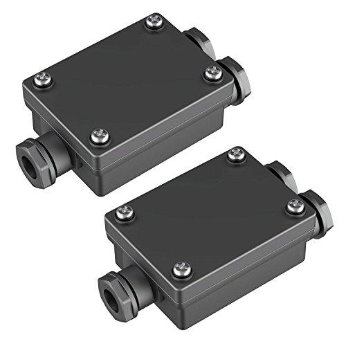 parlat Kabel-Verbinder 2-fach, Outdoor, Muffe für 6-8mm Kabel IP68, 2 Stk.