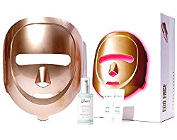 ECO FACE Near-infrared LED Mask for Home Facial LED Therapy   with Brightening Serum   infrared lights for Anti-aging Wrinkle Smooth Skin Texture   Korean Skincare Device