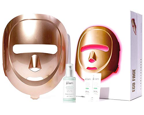 ECO FACE Near-infrared LED Mask for Home Facial LED Therapy | with Brightening Serum | infrared lights for Anti-aging Wrinkle Smooth Skin Texture | Korean Skincare Device