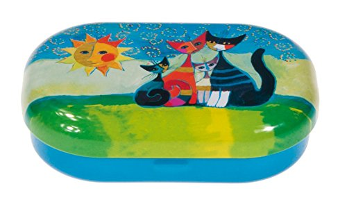 Fridolin 18672 Boîte pour lentilles de Contact Rosina Wachtmeister-Momenti di felicità, Métal, Multicolore, 9x6x2,5 cm