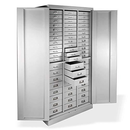 ADB Metall-Schubladenschrank/Werkzeugschrank/Materialschrank/Magazinschrank mit 60 Schubladen, 1790x800x410 mm, Hergestellt in der EU