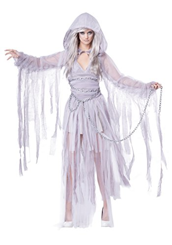Women's Haunting Beauty Costume Large Silver