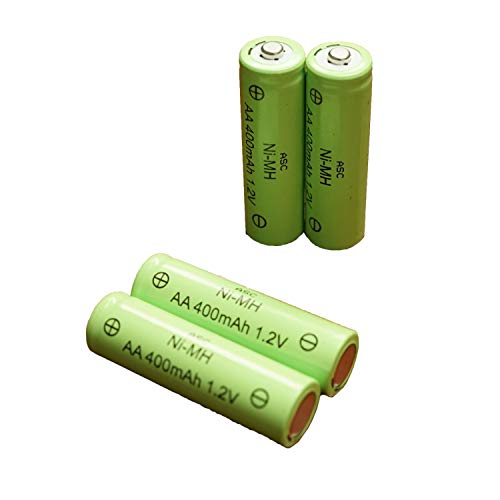 ASC Solar Light AA Ni-MH 600mAh Rechargable Batteries (Pack of 12) (AA 400mAh)