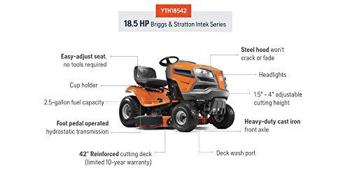 Husqvarna YTH18542 18.5 HP 42-Inch Hydrostatic Riding Mower