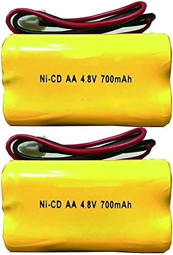 BL93NC487 BL93NC484 BAA48R NI-CD 4 8V 700mAH Sign Sign Emergency Light Battery Reemplazo (Paquete de 2)