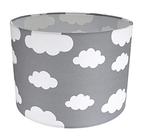 White Clouds Lampada per camera da letto o paralume in tessuto di cotone grigio per bambini/bambini:FBM