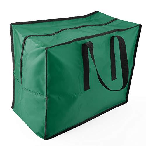 DADEA Bolsa de árbol de Navidad, contenedor de almacenamiento con divisores, almacenamiento debajo de la cama, caja de almacenamiento de papel de regalo y accesorios de vacaciones