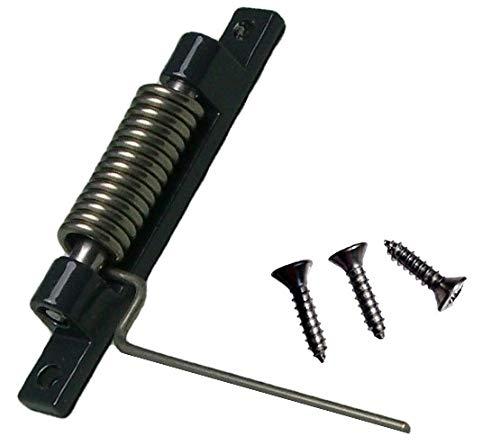 Cierre, muelle, cierre con muelle para mosquitera como repuesto o accesorio para mosquitera protección contra insectos, muelle de retorno (Antracita)