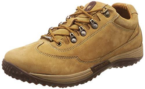 Woodland Men's Camel Leather Sneakers-9 UK/India (43 EU) (GC 2583117D)