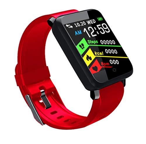 Ching Fitness Contador De Reloj Inteligente Monitor Pulsera Desata Tu Carrera Proyector PodóMetro Deportivo Contador Mujeres Hombres,Red