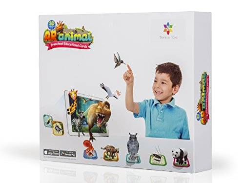 commercial Animal 3D index card. Introducing dinosaurs, land and sea animals, birds and insects … augmented reality flash cards