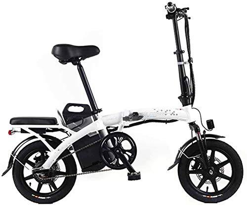 Bicicletas Eléctricas, Bicicleta eléctrica plegable de la batería de litio Mini portátil de cercanías bicicleta eléctrica Vespa adulto con el motor de 350 W ,Bicicleta ( Color : White , Size :