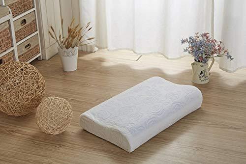 N-B Almohada de látex gel cojín de látex cojín de masaje para proteger la columna vertebral cervical almohada de espuma viscoelástica con núcleo transpirable