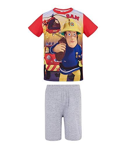 Feuerwehrmann Sam Jungen Shorty-Pyjama - Rot - 110