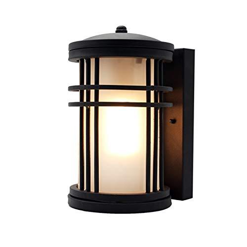 YXLMAONY Lámpara de pared LED impermeable moderna, lámpara de hardware Cuerpo de la lámpara de cristal helada, soporte de la lámpara E27, Adecuado para Villa Patio Puerta POR PORCH PORCH PORCH POR POR