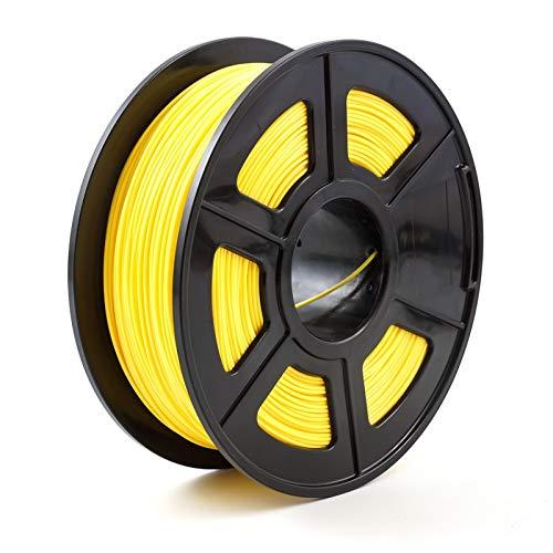 NO LOGO HWW-3D, Filamento de Impresora 3D 1.75mm 1kg / 2.2lbs PLA PETG TPU Nylon Fibra de Carbono conductora ABS PC Pom ASA Madera Hips PVA Filamento de plástico (Color : PLA Dark Yellow)
