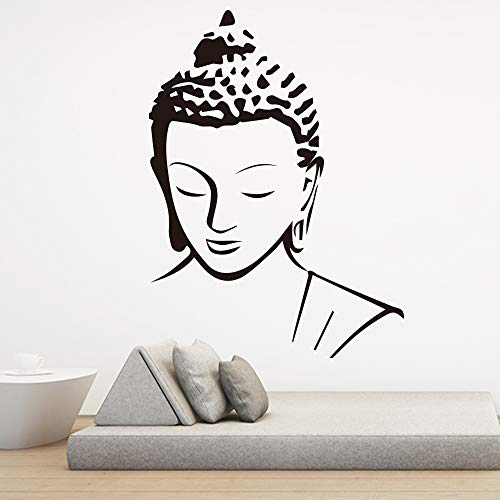 zqyjhkou Religion Buddha Pattern Wall Decal Sticker Home Decor Removable Art Vinyl Mural for Living Room Bed Room Wall Art Decoration XL 58cm X 79cm