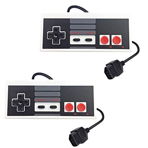 2er-Pack Ersatz-Controller für Nintendo NES 8-Bit Entertainment System, NES Controller Konsole Control Pad