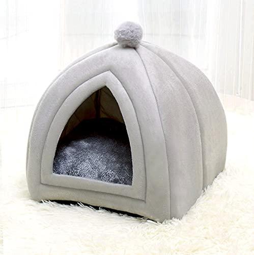 JZK, morbido e caldo divano letto invernale per gatti, grande grotta per gatti, cuccia per cani di piccola taglia, a forma di piramide per gatti, gattini, cuccioli e conigli.