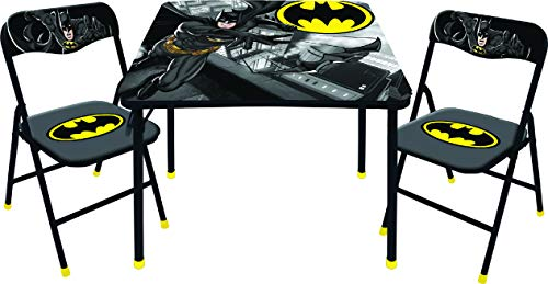 DC Comics Batman 3 Pc Table & Chair Set, Black