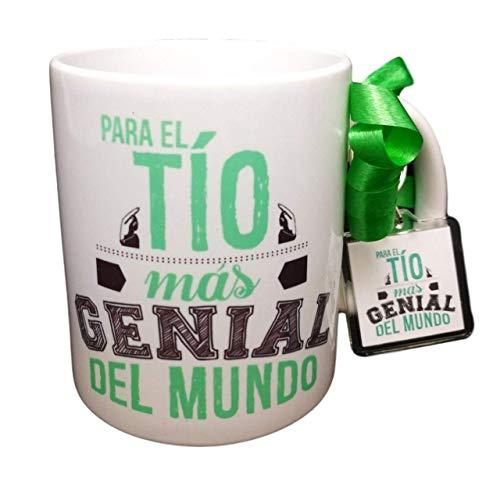 Taza Frase Y Llavero para EL TIO MÁS Genial del Mundo Regalo para TIO. Taza Original