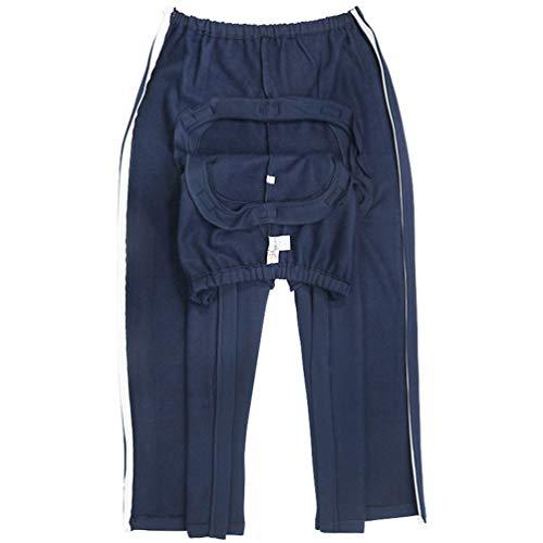 JM-D Pantalones De Cuidado De La Incontinencia para Ancianos, para Pacientes de Edad Avanzada Reposo en Cama Incontinencia Paciente Cuidado de la Ropa,Azul,XL