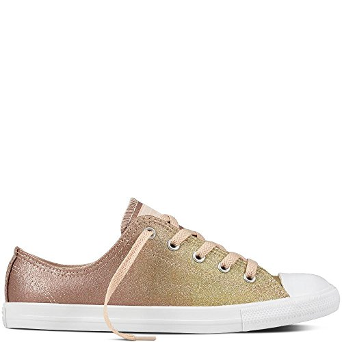 Converse Damen Chuck Taylor CTAS Dainty Ox Synthetic Fitnessschuhe, Gold (Gold/Particle Beige/White 717), 40 EU