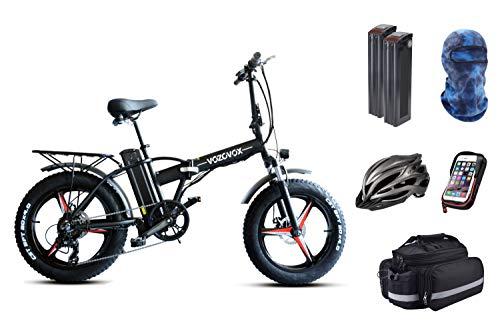 VOZCVOX Bicicleta Eléctrica Plegables,500W Motor Bicicleta, Bici Electricas Adulto con Ruedas de...