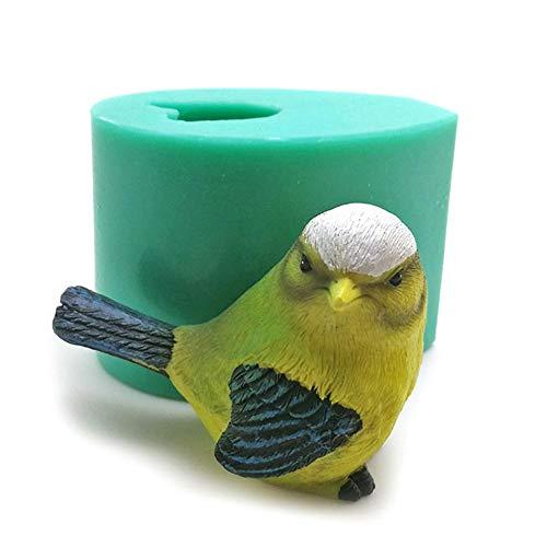 SOWLFE Molde de silicona para jabón de pájaros 3D, molde de escultura de sal para hacer jabón, chocolate, dulces, tartas, fondant, decoración