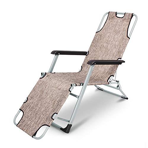 YXB - Silla plegable para siesta plegable y portátil para oficina, silla de oficina simple y plegable, respaldo para el hogar, color marrón