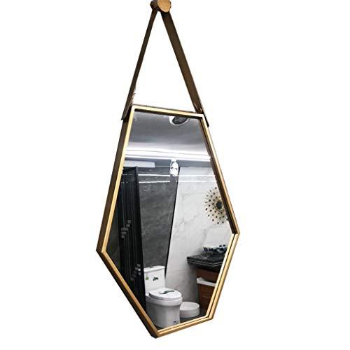 Lpf Badkamerspiegel wandbehang spiegel badkamer make-up Zes kanten diamant spiegel decoratieve spiegel creatieve hangspiegel