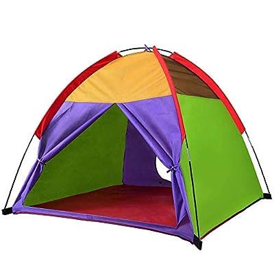 "Alvantor Kids Tents Indoor Children Play Tent For Toddler Tent For Kids Pop Up Tent Boys Girls Toys Indoor Outdoor Playhouse Camping Playground 8010 Rainbow 48""x48""x42"" by Alvantor"
