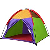 "Alvantor Kids Tents Indoor Children Play Tent For Toddler Tent For Kids Pop Up Tent Boys Girls Toys Indoor Outdoor Playhouse Camping Playground 8010 Rainbow 48""x48""x42'"