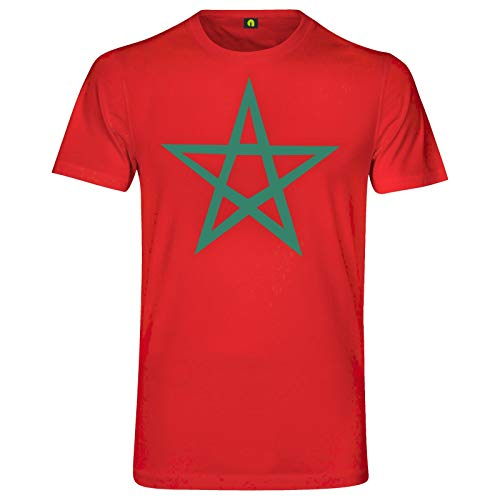 Marokko T-Shirt | Marocco | Maroc | Islam | Fahne | Flagge | Morocco Rot M